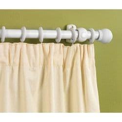 SupaDec White Finish Wooden Curtain Pole - 150cm, 28mm diameter